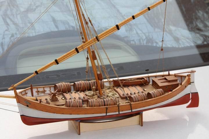 1/48 Leudo 1800-1900 kit modelo de barco de madera corte láser 3d kit modelo de madera barco de aficionado