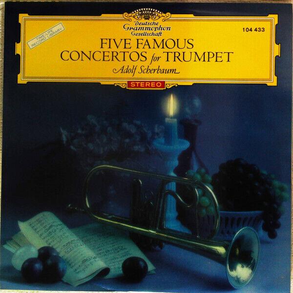 Adolf Scherbaum - Five Famous Concertos For Trumpet / VG / LP