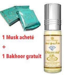 6be1c5601 Musk Perfume Al Rehab Diamond 6ml 100% Oil + 1 Bakhoor Al Zahra | eBay