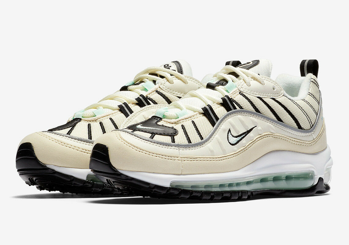 Nike WOMEN'S Air Max 98 Sail Igloo Fossil SIZE 5 BRAND NEW