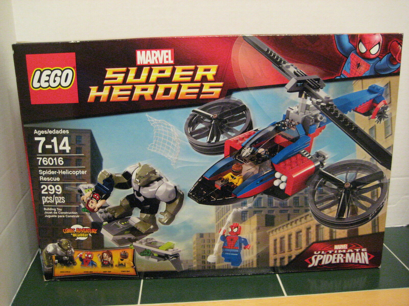 Lego Spider-Helicopter Rescue   76016 Marvel Super Heroes