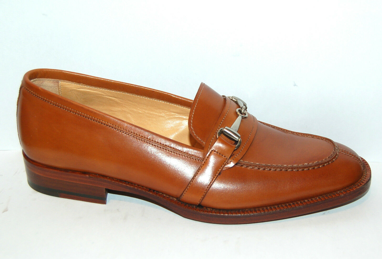 WOMAN - 37½eu - PENNY LOAFER WITH CLAMP - CALF TAN - LEATHER SOLE