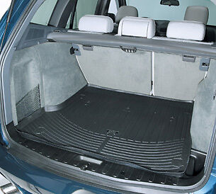 Genuine BMW X5 All Weather Rubber Cargo Trunk Liner Mat 2000-2006 Black Grey E53