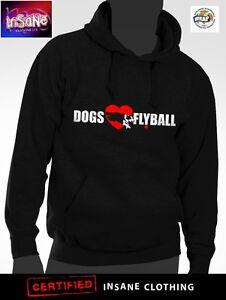 Hombre-Unisex-Resistente-310gsm-Flyball-Sudadera-con-Capucha-Ideal-Crufts-Perro