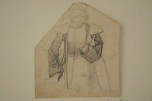 Wilhelm-SOHN-1830-1899-Soldatenstudie-Soldat-Militaer-Skizze-Bleistift-Antik