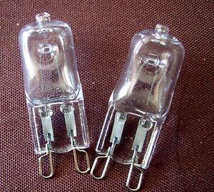 Deux-G9-Ampoule-Halogene-Lampe-Blanc-Chaud-40-W-Transparent