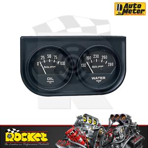 Auto Meter Auto Gage 2-1/16 Oil Pressure & Water Temp Gauge - AU2345