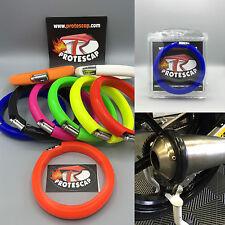 Motorrad Auspuffschutz,Schalldämpferschutz,Auspuff Schutzring,Dirtbike,Blau,S