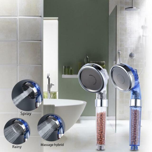 Function Handheld High Pressure Shower Head Bathing Boosted Sprayer Water-saving