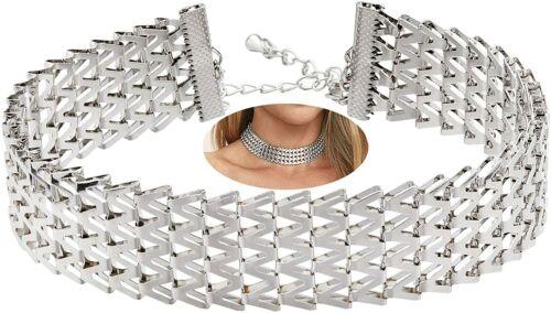 Ancho De Mujer Cadena de Aleación de oro Plata Plateado Gargantilla Cuello Joyería Collier Collares
