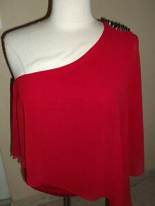 t-shirt-tunique-ZARA-T-M-rouge