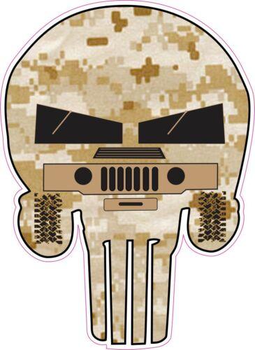 Punisher Skull Military DESERT CAMO HUMVEE Decal Sticker Graphic
