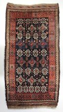 Antique Persian Baluch Rug; Late 19th century; FULL PILE; Natural Colors;6-8x3-5
