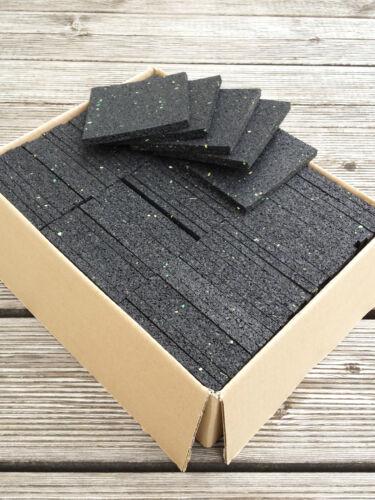 26,88€//m² Gummigranulat Pad Stelzlager Terrassen Pads 100x100x6 mm 75 St