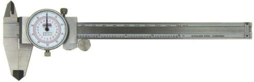 "Dial Caliper Fowler Shockproof 6/""//150 mm DUAL Reading Scale METRIC INCH MM"