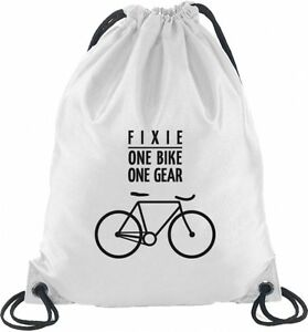 5dfdb5169fb7b Das Bild wird geladen Shirtstreet24-Fixie-One-Bike-Fahrrad-Bahnrad- Turnbeutel-Rucksack-
