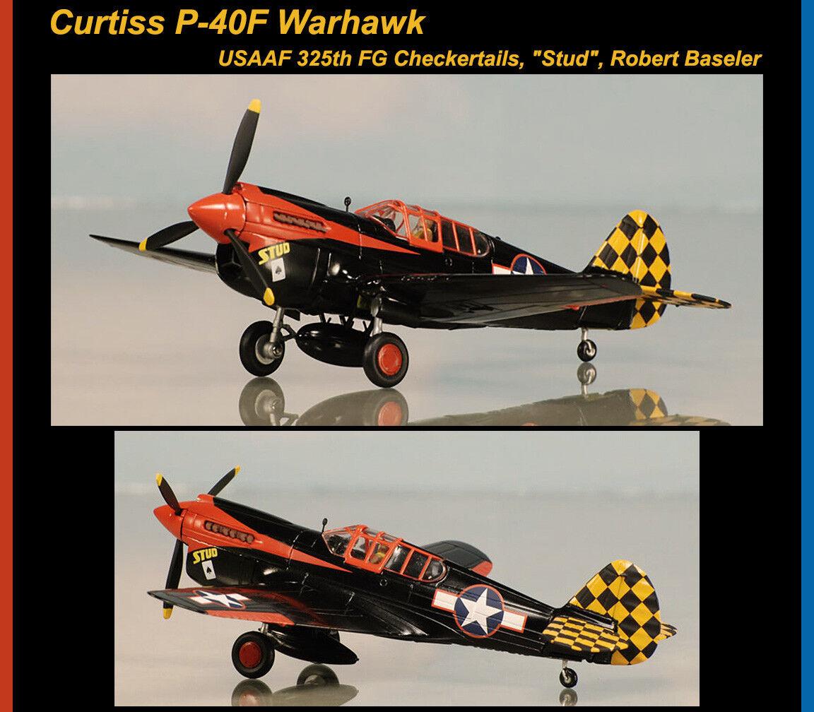 clásico atemporal Corgi Curtiss P-40F Warhawk Warhawk Warhawk USAAF grupo de combate 325th checkertails Stud Robert Baseler Limited  Envío y cambio gratis.