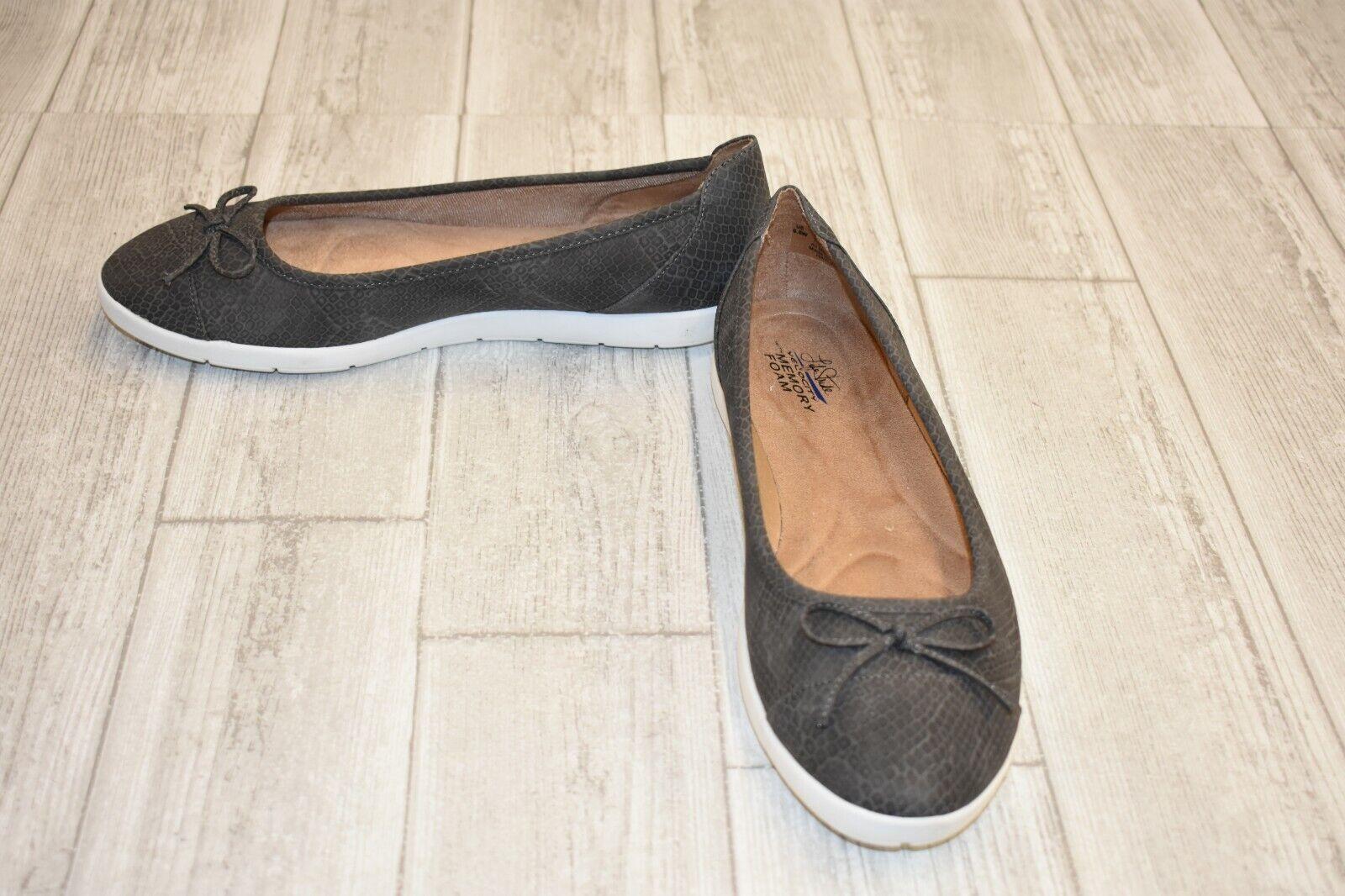 LifeStride Haylee Casual Flats - Women's Size 9.5 W - Grey