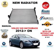 FOR VOLVO V40 HATCHBACK RADIATOR 2012->ON MANUAL T2 T3 T4 GTDi AWD D2 D3 D4