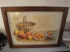 Tableau Nature Morte - Panier et Fruits