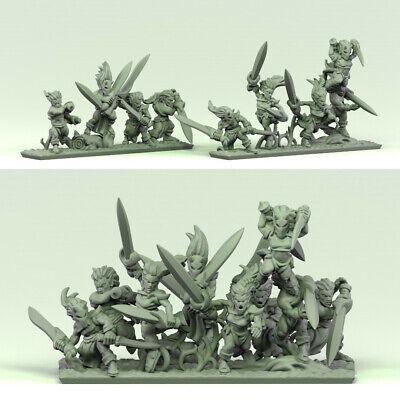 Warmaster-Proxy impréssion 3d--Woord elves-Lanciers lot 1