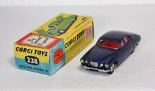 Corgi Toys 238, Jaguar Mark X, rare, dark blue, Mint in Box             #ab1447