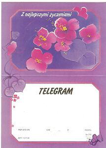 TELEGRAMME-POLOGNE-1990-FLEURS-14-8-x-20-5