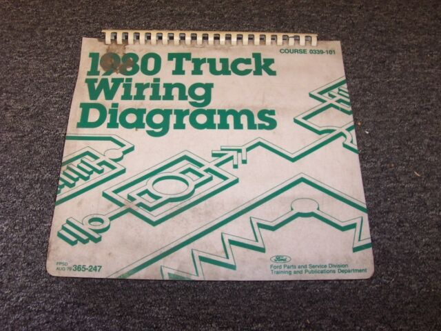 1980 Ford Cl9000 Cl Series Semi Truck Electrical Wiring Diagram Manual