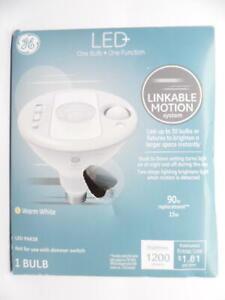 GE LED Outdoor PAR38 Light Bulb w/Motion Sensor Light 90w Replacement Warm White