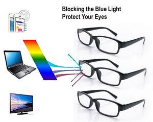 3-X-Slim-Unisex-Reading-Glasses-Designer-Vision-Anti-Glare-Blue-Light-Computer