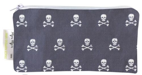 Itzy Ritzy Snack Happens Mini™Reusable Snack and Everything Bag Rebel Skulls