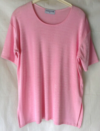 NEW WOMENS  PLUS SIZES 12-18 PLAIN OR SEQUIN DETAIL ACETATE STRETCH TOP T.SHIRT