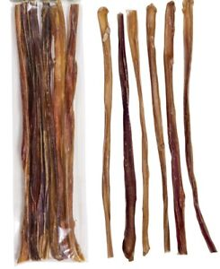 6-034-amp-12-034-Inch-EXTRA-THIN-BULLY-STICKS-ODOR-FREE-natural-dog-treats