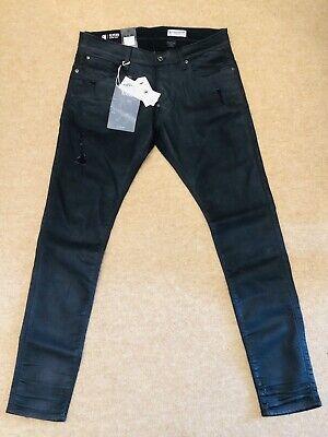 * Bnwt * Da Uomo G-star Raw Revend Super Sottile Nero Stretch Denim Jeans Taglia W34 L34-mostra Il Titolo Originale Ricco E Magnifico