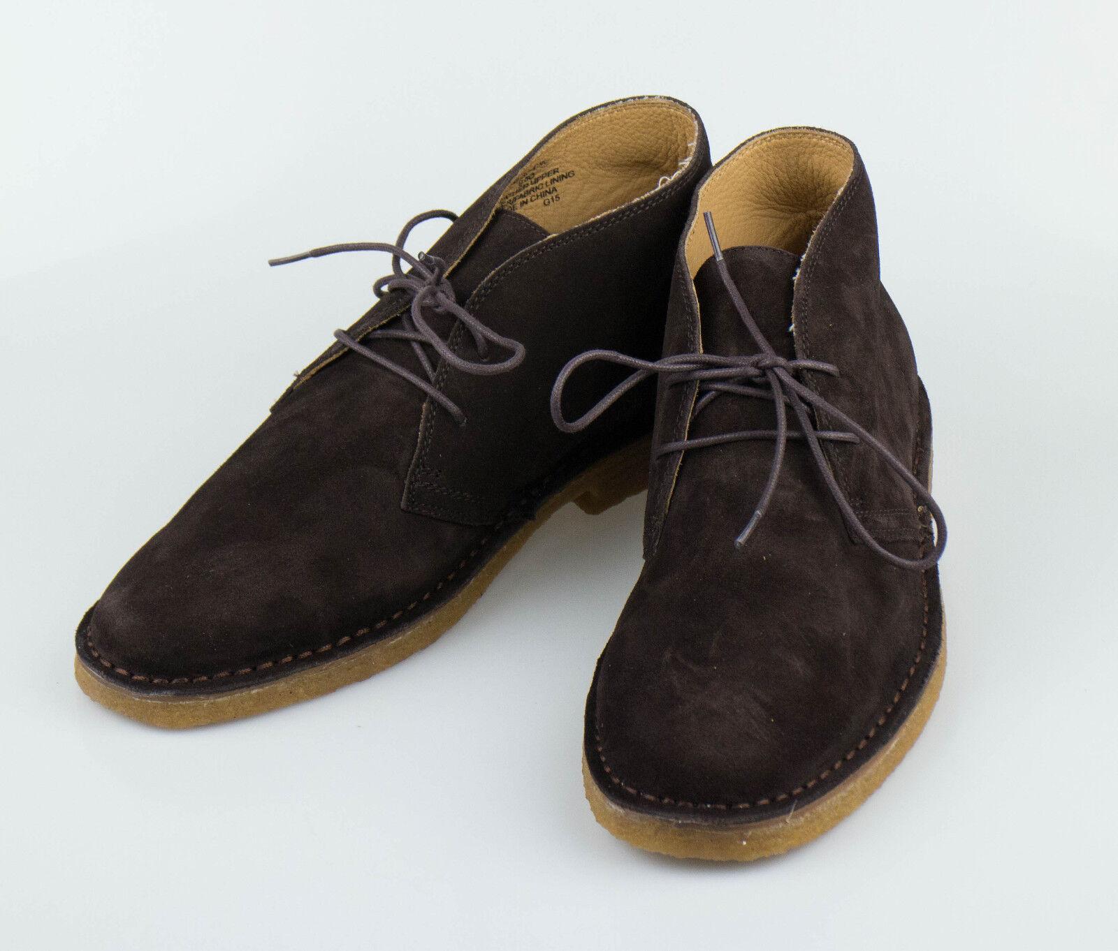 NIB. POLO RALPH LAUREN King Bistre Brown Suede Suede Suede Desert Stivali Shoes 9.5 D  395 5f906b