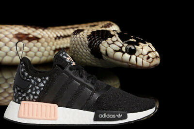 Details about ADIDAS ORIGINALS NMD R1 ANIMAL PRINT RUNNER WOMENS CORE BLACK - PALE PINK - GREY