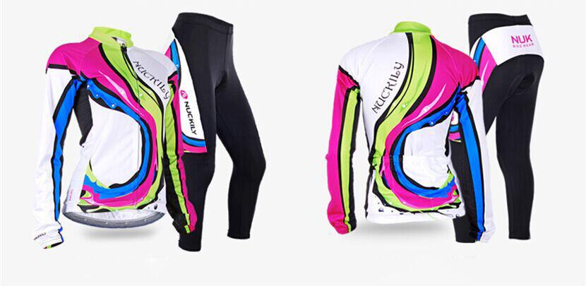 Damen Radfahren Radtrikot Fahrradtrikot & Radlerhose mit Polster Langarm S-XL S-XL S-XL 8c6a75