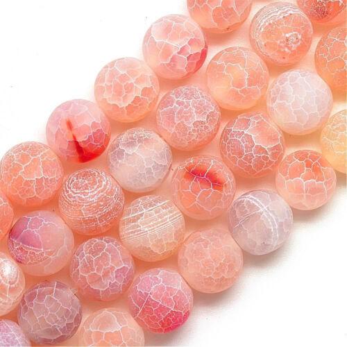 Piedras preciosas achat perlas 6mm mate piedra natural aproximadamente naranja joyas bricolaje r305