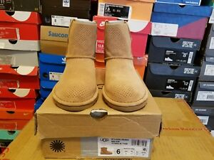 5c085e09d24 Details about UGG Classic Unlined Mini Perf Boot - Women's 1016852 W/Taw