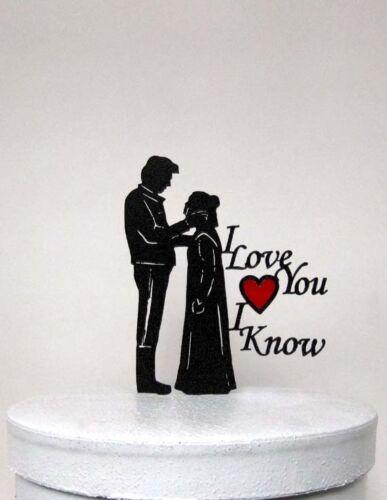 StarWars Leia /& Hans Solo silhouette 2 Wedding Cake Topper