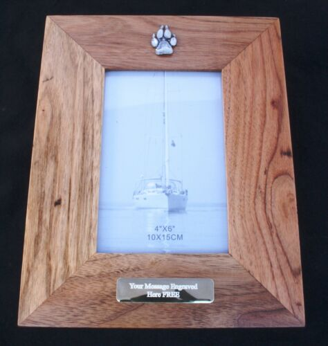 Wolf Paw Wooden Photo Frame 6 x 4 Landscape or Portrait Wolf Gift 401