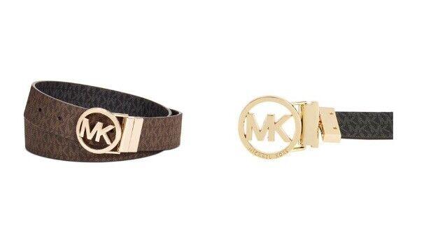 MICHAEL Michael KorsReversible Signature with Logo Buckle Belt Size M Brown