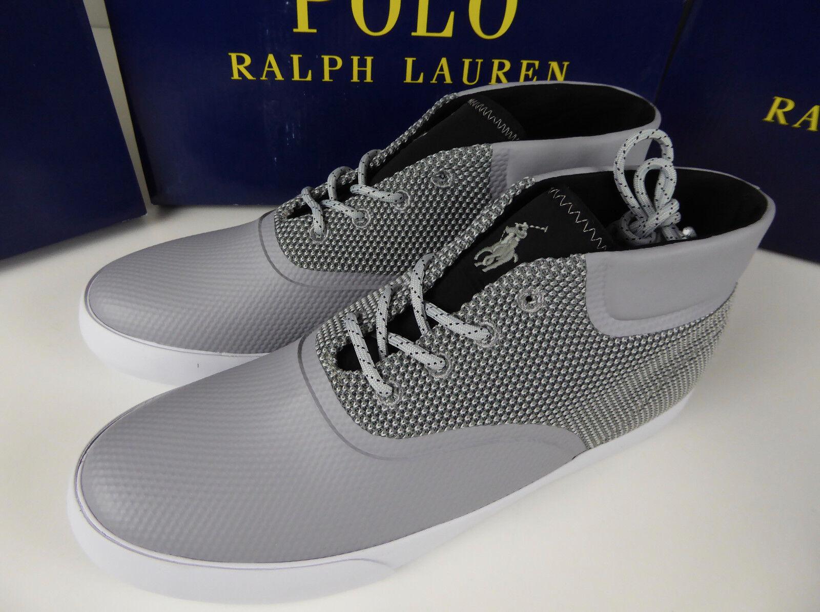 Polo Ralph Lauren Vadik Vadik Lauren Mesh Sneaker Chukka Shoes NIB New Vulcanized w Pony Logo 62c4ad