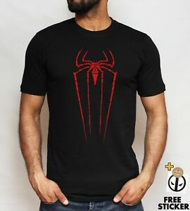 Spiderman-logo-T-shirt-Cool-Superhero-Inspired-Gift-Present-Tee-Top-ALL-SIZES