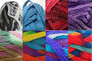 Filatura-di-Crosa-Moda-Ruffle-Yarn-Fab-Color-Choices-Loom-Knit-Crochet