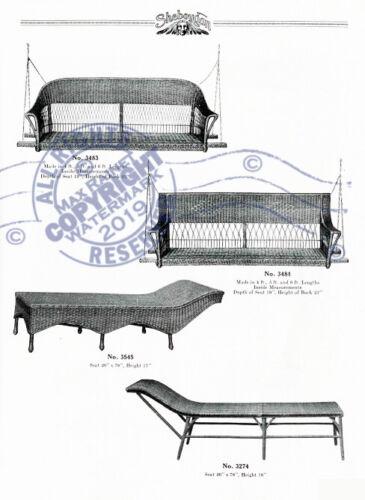 Sheboygan Fiber Furniture 1937 CATALOG Wicker Rattan Upholstered Chairs Settee