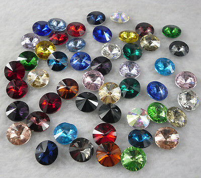 10mm round satellite glass crystal Faceted sharp silver bottom Jewels rhinestone