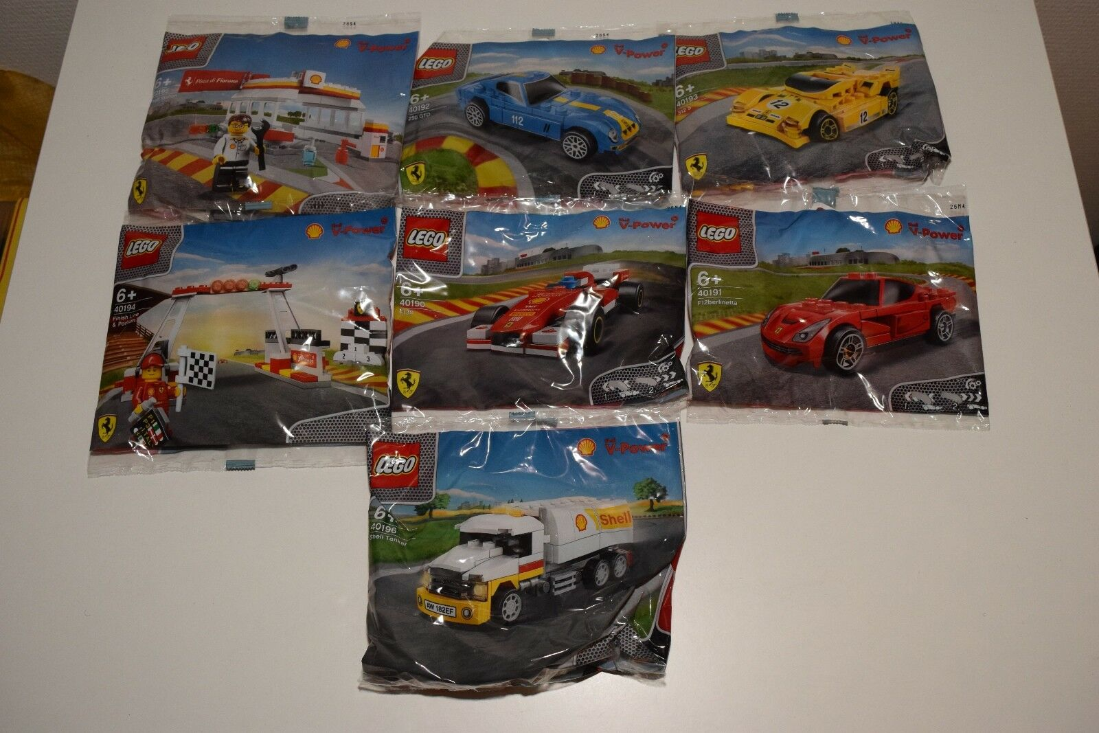 LEGO 40190 40191 40192 40193 40194 40195 40196 SHELL V V V POWER FERRARI DUTCH RARE  a6500e