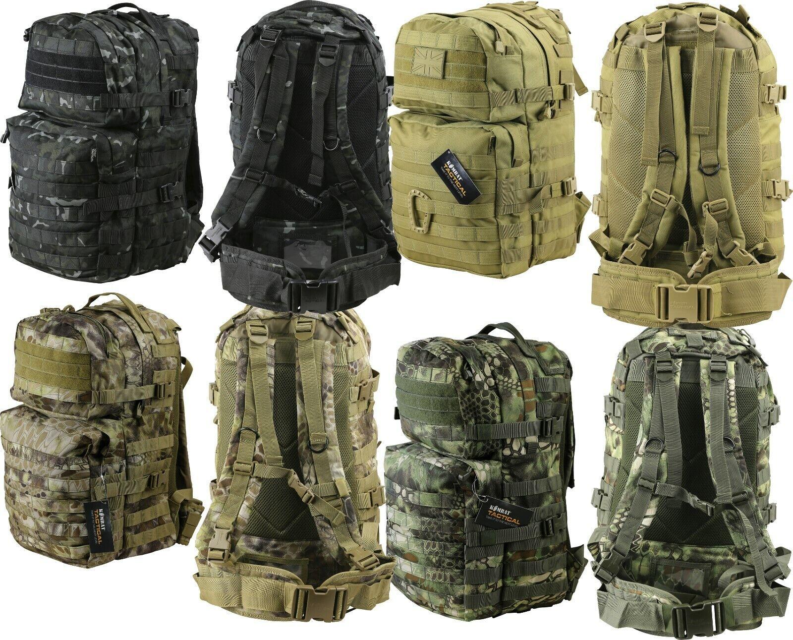 KOMBAT Medio MOLLE assalto pack 40 LITRO Cadetto Esercito Zaino tattico da montagna