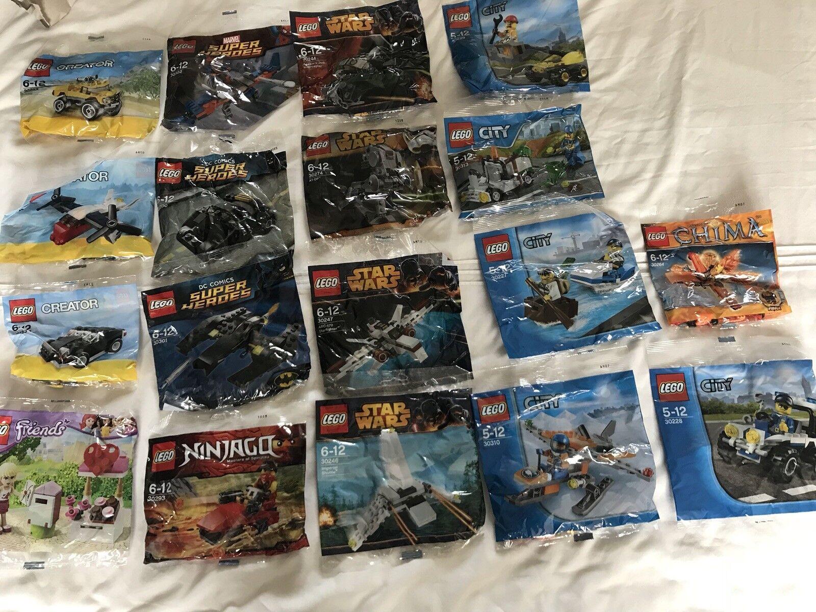 Lego polybag bundle Starwars Batman Spider-Man City